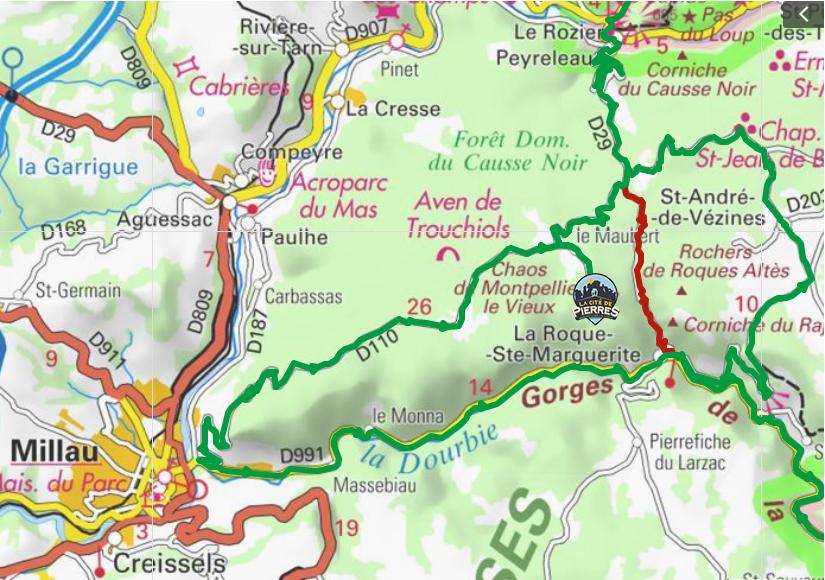 plan fermeture de route la roque sainte marguerite